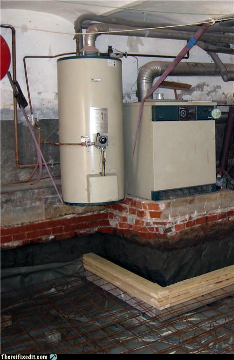 basement,boilers,flying,Kludge,repair
