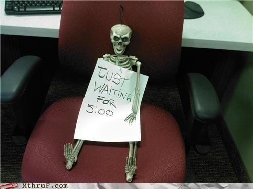 500 anorexia boredom countdown creativity in the workplace cubicle boredom decoration depressing dyslexia impatient maroon melodramatic paper signs passive aggressive Sad sass sculpture signage skeleton TGIF waiting watching the clock wiseass yawn - 3695929856