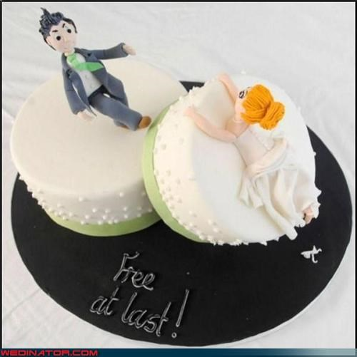 bitter,breaking up,crazy cake,divorce,divorce cake,divorce party,Dreamcake,ex-husband and ex-wife,free at last