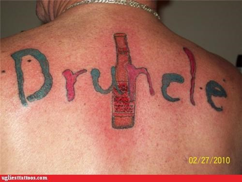 back pieces drinking family is important to me words - 3697984768