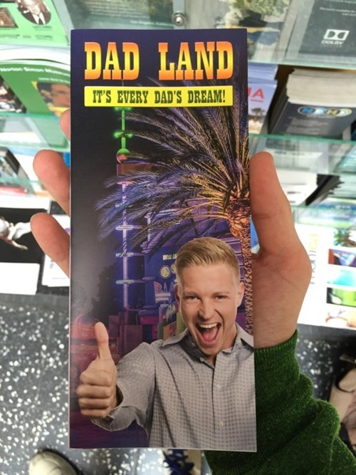 prankster sneaks dad land into kiosk