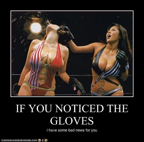IF YOU NOTICED THE GLOVES i have some bad news for you