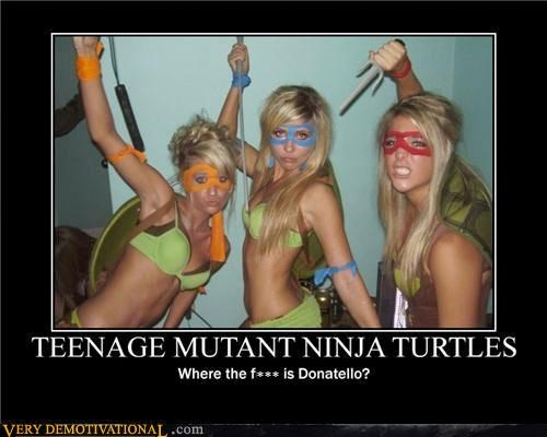 babes,beer,costume,Katanas,My fantasy,nunchucks,Pure Awesome,Rule 34,Sais,TMNT