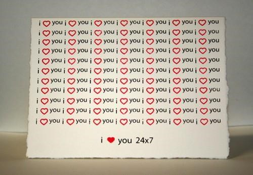 247 cards i-3-you Letterpress stationary