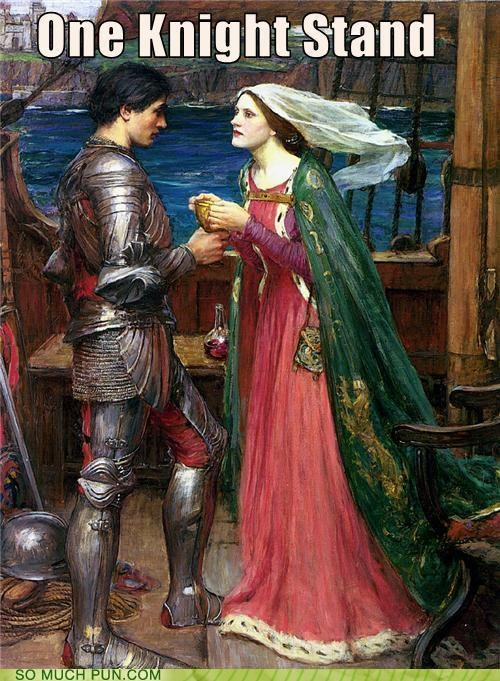 history,knight,lady,painting,puns,ship