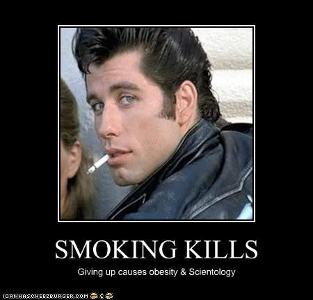 actor cigarettes grease john travolta movies obese scientology smoking - 3708439296
