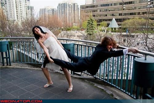 bride,cheesy wedding photo,Crazy Brides,crazy groom,fashion is my passion,fugly shoes,funny wedding photos,groom,reluctant groom picture,runaway groom,staged wedding portrait,technical difficulties,were-in-love,wtf