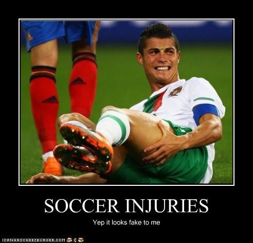 SOCCER INJURIES - Cheezburger - Funny Memes | Funny Pictures