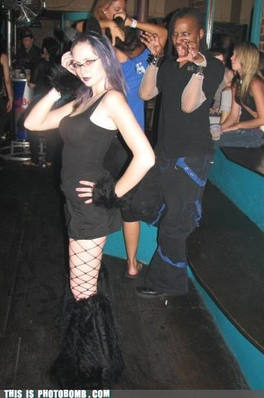 cat people Caturday clubs goths photobomb wtf - 3711032832