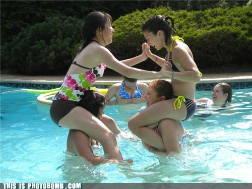 awesome bikini boobs girls pool party - 3713836544