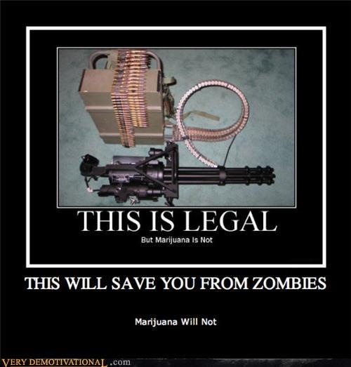 ammo apocalypse awesome drugs guns marijuana Minigun Pure Awesome Terrifying zombie - 3716336896