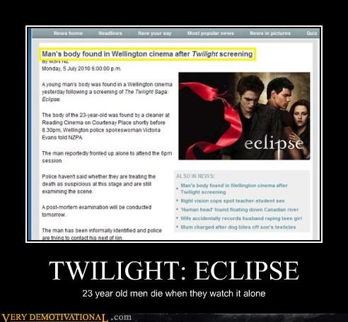 Death movies sparkles Terrifying twilight vampires