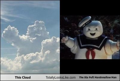 cloud,Ghostbusters,monster,movies,nature,The Stay Puft Marshmallow Man