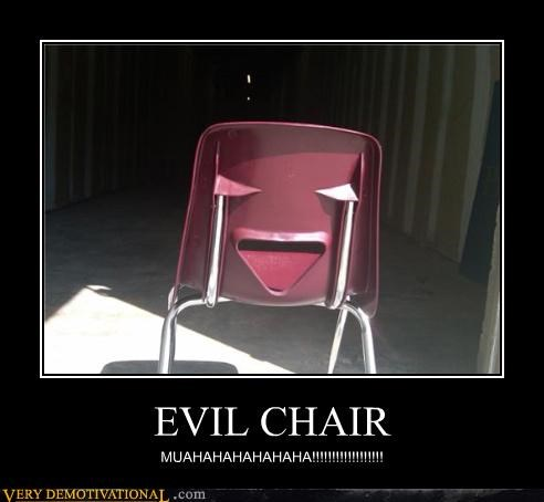 anthropomorphizing chair evil eyes faces impossible Terrifying