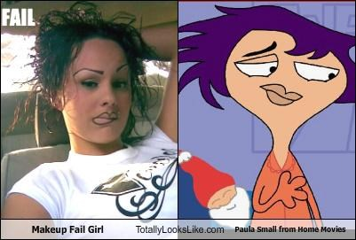 cartoons FAIL girl Home Movies makeup Paula Small