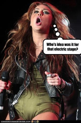 Who's idea was it for that electric stage?