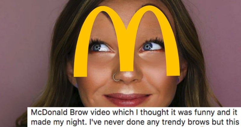 McDonald's eyebrow trend is repulsive and ridiculous.