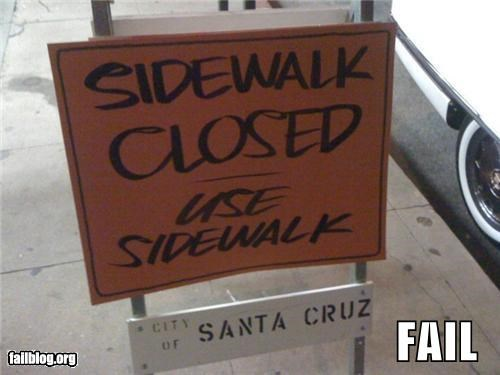 confusing failboat g rated sidewalk sign - 3721583616