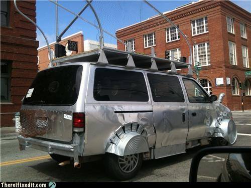 awesome Kludge metal post apocalyptic vans