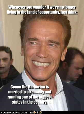 actor Arnold Schwarzenegger Conan the Barbarian lolz politics - 3724010496