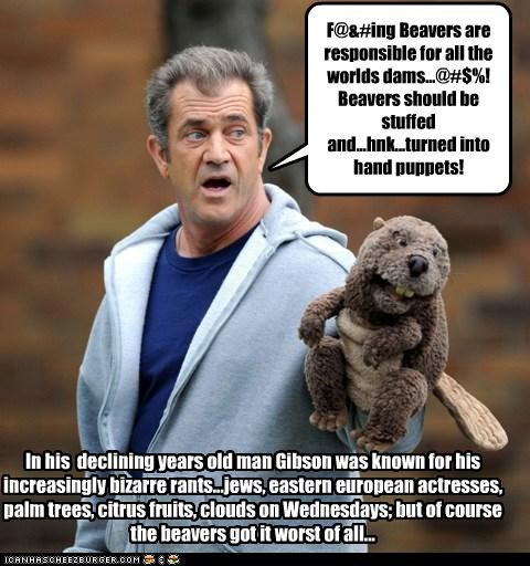 actor douchebags mel gibson puppets racist scandal wtf - 3724032256