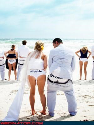 bridesmaids Crazy Brides crazy groom eww fancy underwear fashion is my passion flashing grooms-ass honey-moon mooning the camera surprise upskirt were-in-love wedding party Wedding Themes wtf - 3724433408