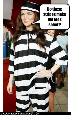 lindsay lohan prison stripes wax figure - 3725960448