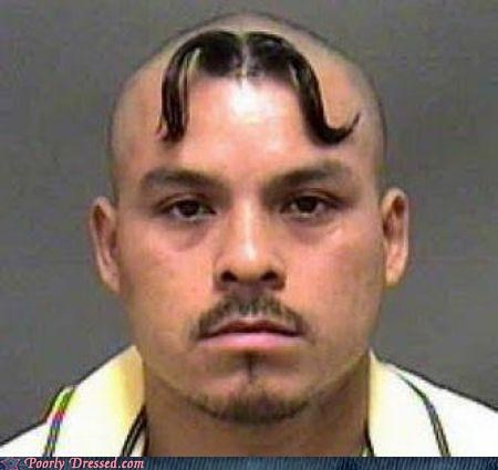 facial hair mustache shaved into a shape - 3726336768