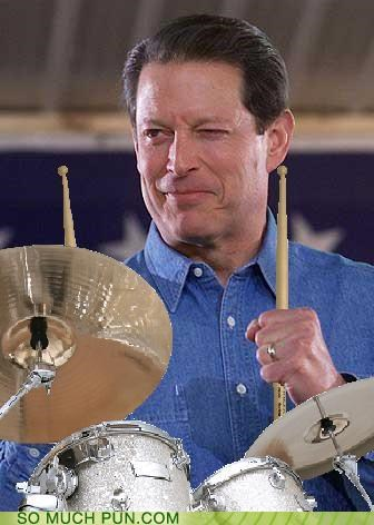 Al Gore,drums,Jeff Milligan,Looking for the perfect beat,math,puns,rhythm,science