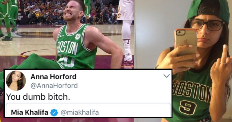 Twitter Tears Mia Khalifa Apart After She Makes Untimely Joke About Gordon Hayward's Ankle Break