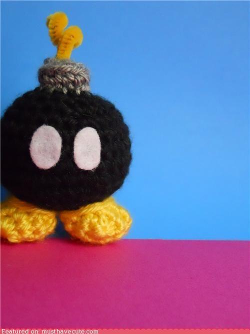 Amigurumi,bob-omb,bomb,crochet,mario,super mario brothers