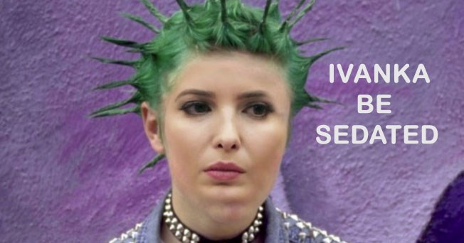 Funny memes and twitter reactions to Ivanka Trump claiming she had a punk phase in Ivana Trump's new memoir, Raising Trump.