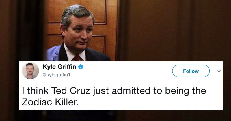 Ted Cruz tweets about the Zodiac killer and the internet doesn't know what to do about it.