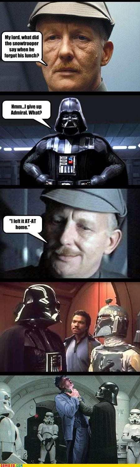 at at,darth vader,empire,puns,star wars