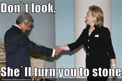 Democrat funny Hillary Clinton lolz myth - 3730329088