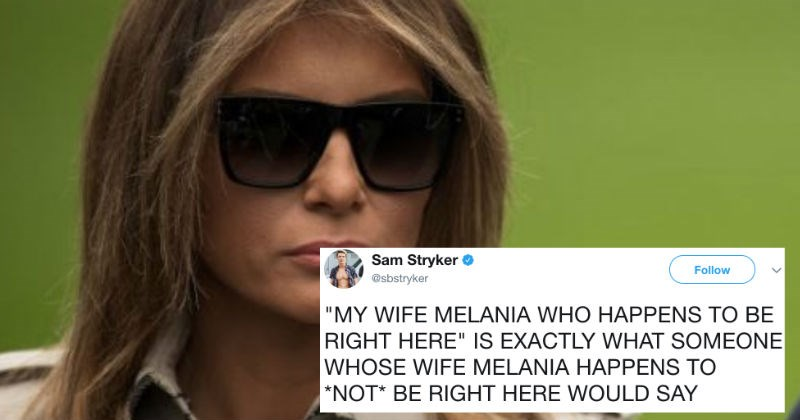 Fake Melania ends up inspiring a ridiculous conspiracy theory on Twitter.