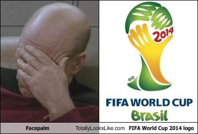 actor facepalm patrick stewart soccer sports Star Trek world cup