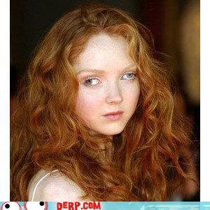 celeb derp hawt Lily Cole photoshop red head