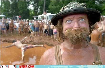 derp dirty mud pit no teeth redneck