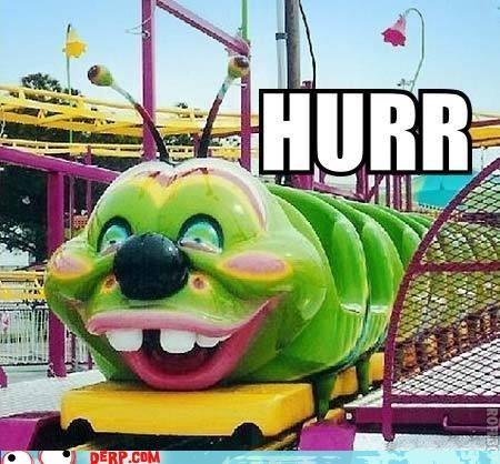 buck teeth caterpillar derp rollercoaster state fair - 3731666176