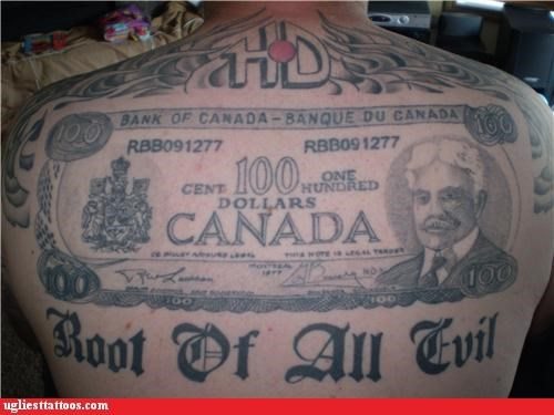 back pieces butt tats cash money musicians patriotism phallic portraits words