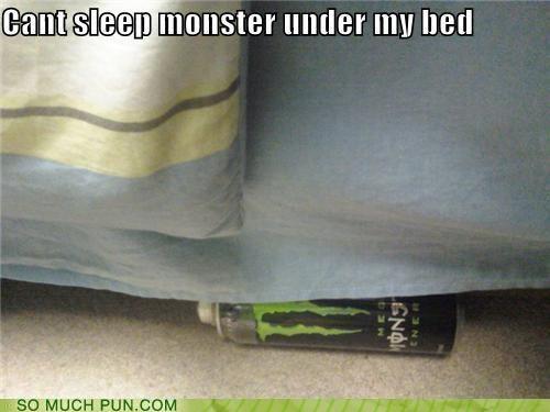 bed caption energy drink monster puns - 3732069376