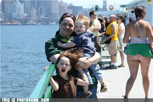 do not want eye bleach family photo family portrait pier upskirt