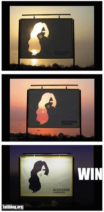 Ad billboard failboat g rated sun set - 3735118848