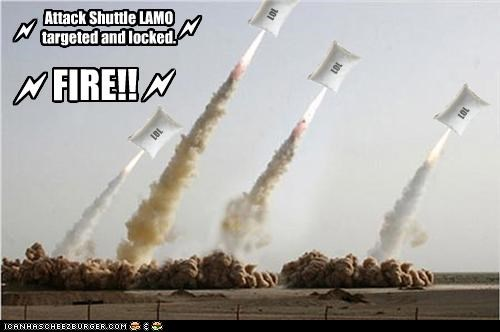 ICHC Missile pillow launch in 3. . . 2. . . 1. . . .