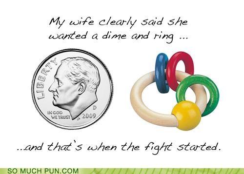 diamond ring fight misunderstanding puns relationship - 3738682368