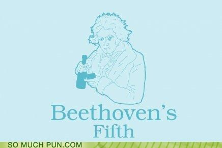 alcoholic Beethoven Music puns symphony - 3740080128