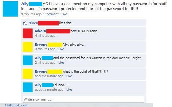 bad idea forgetting things how-stupid-can-a-person-be passwords - 3740713216