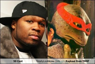 50 cent raphael rapper teenage mutant ninja turtles TMNT - 3741387776