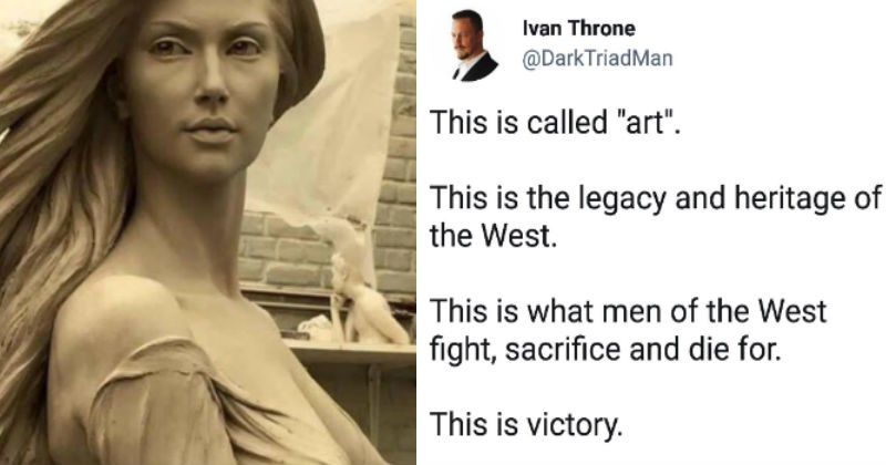 Idiot gets himself roasted after trying to say that only white men can do art.